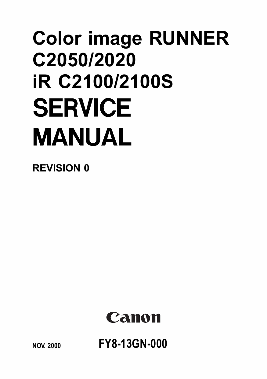 Canon imageRUNNER iR-C2050 C2020 C2100 C2100S Parts and Service Manual-1